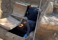 İznikte Roma dönemine ait mezar taşı keşfedildi