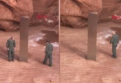 ABDde çölde keşfedilen gizemli metal blok paniğe neden oldu