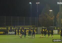 Haalandlı Dortmund Club Brugge maçına hazırlanıyor