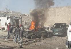 Afrinde bomba yüklü araç patladı