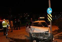 Amasyada kaza 2 kişi yaralandı