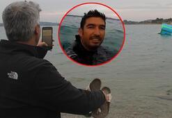 Denizde gören telefona sarıldı Gerçek çok farklı çıktı