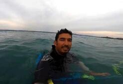 Vatandaşlar dünya ikincisi sörfçüyü mahsur kaldı sandı