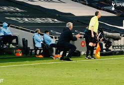 Jose Mourinho yerinde duramadı | Yakın çekim...