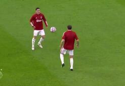 Ajaxın yıldızı Nicolas Tagliaficodan Maradona antrenmanı