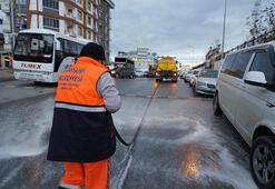 Başakşehir'deki semt pazarları dezenfekte edildi