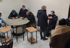 Kıraathaneye baskın 17 kişiye 9 bin 422 lira ceza