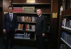 Cumhurbaşkanı Erdoğan ile Katar Emiri Al Sani Millet Kütüphanesini gezdi