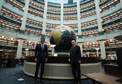 Cumhurbaşkanı Erdoğan, Katar Emiri Al Sani ile Millet Kütüphanesini gezdi