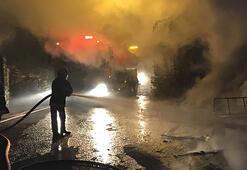 Ankarada korku dolu anlar Alev alev yandı