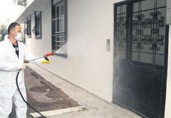 Vaka görülen  apartmanlara  dezenfeksiyon