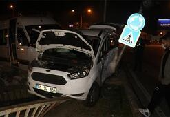 İşçi servisi ile hafif ticari araç çarpıştı: Yaralılar var
