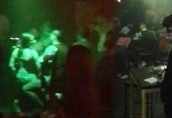 İstanbulda koronavirüs partisi Baskın anı kamerada