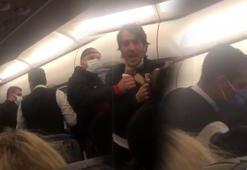 İzmir-Adana uçağında arbede; 3 yolcu ile futbolcular birbirine girdi