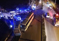 İşçi servisi ile halk otobüsü çarpıştı: Yaralılar var