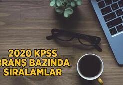 ÖSYM giriş - KPSS branş sıralamaları | KPSS Ön Lisans branş bazında sıralamalar