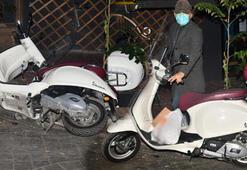 Engin Günaydının motosikleti devrildi