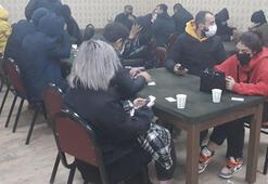 Ruhsatsız iş yerinde kumar oynayan 38 kişiye 166 bin lira ceza