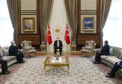 Cumhurbaşkanı Erdoğan, Mescid-i Aksa İmam Hatibi Şeyh Sabriyi kabul etti