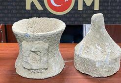 Adana'da kamyonetin kasasında tarihi eser kaçakçılığı