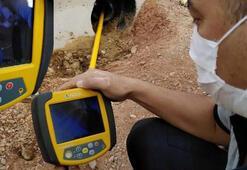 Yer altındaki boruya sıkışan kedi, termal kamerayla bulunup, kurtarıldı