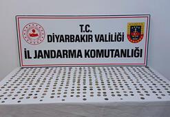 Diyarbakırda 416 gümüş sikke ele geçirildi