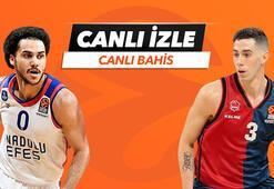 Anadolu Efes - Saski Baskonia maçı Tek Maç, Canlı Bahis ve Canlı İzle seçenekleriyle Misli.comda