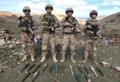 Vanda PKKlı teröristlere ait silah ve roketatar mühimmatı ele geçirildi