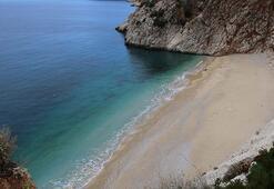 Dünyaca ünlü Kaputaş Plajı, martılara ve yaban keçilerine kaldı
