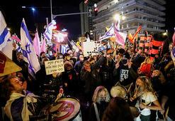 Netanyahu karşıtı gösterilerde ortalık karıştı Gözaltılar var