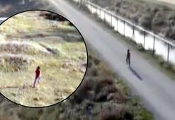 Çocuk dronu fark ettiği an böyle kaçtı