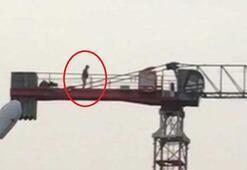 50 metre yükseklikte namazını kıldı