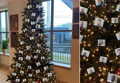 Suçluların fotoğraflarıyla süslenen Noel ağacına tepki yağdı
