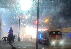 Rusya'da hava fişek fabrikasında yangın