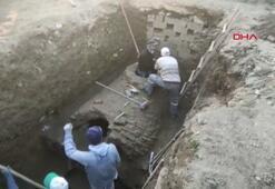 Bursada inşaat temel kazısında tarihi esere rastlandı