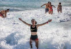 Antalyada aralık ayında deniz keyfi