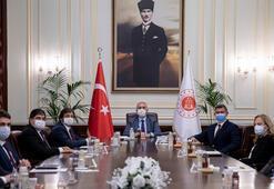 Bakan Gül , Feyzioğlu ile görüştü