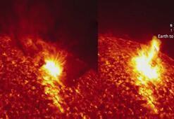 Güneşte meydana gelen patlama anı ilk kez görüntülendi