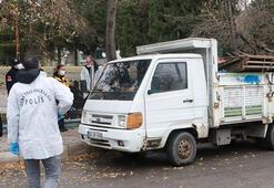 Park halindeki kamyonette şüpheli ölüm
