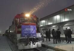 Türkiyeden Çine giden ilk ihracat treni sınır kenti Kars'ta