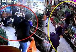 Bıçaklı saldırgan dehşeti 5 metre yükseklikten atlayarak kaçtı
