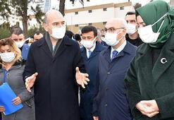 Bakan Soylu'dan İzmirde depremzedelere ziyaret