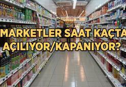 Bugün marketler saat kaça kadar açık olacak Hafta sonunda marketler açık mı