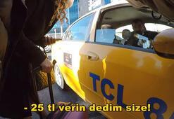 Taksici turist sandı, bunu hiç beklemiyordu... Cezayı yedi