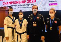 Milli sporculardan Avrupa Tekvando Şampiyonasında 3 madalya