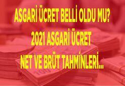 Asgari ücret belli oldu mu, ne zaman açıklanacak 2021 Asgari ücret net ve brüt tahminleri ve son dakika gelişmeleri...