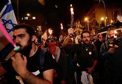 Netanyahuya karşı sokağa döküldüler: Karanlıktan kurtulmak için geldik