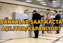 Bankalar hafta içi saat kaçta açılıyor Bankaların çalışma saatleri değişti mi İşte güncel çalışma saatleri...