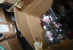Sultangazide sahte içki imalathanesine baskın
