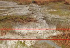Terkos Gölünde sular çekildi, tarih ortaya çıktı